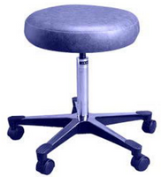 Lab Stools w/Backrest (Not Pictured), Medium Blue by Cleanroom World