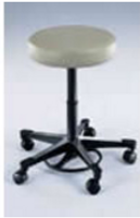 Lab Stools, Pneumatic Foot Operated, Dark Gray by Cleanroom World
