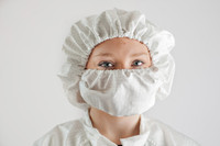 "ESD Cleanroom Washable 24"" Bouffant Caps by Cleanroom World"