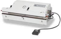 "Vacuum Heat Sealers, Ported Exhaust for Cleanrooms, Nozzle Vacuum System, Table Top, Low Volume, Seal Length: 20""  AV-PVT-20 by Cleanroom World"