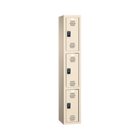 Plastic Locker, Three Tier, Multiple Sizes and Colors by Cleanroom World