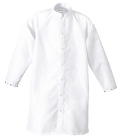 Cleanroom Frock, Taffeta, Raglan Sleeve, Snap Front, White by Cleanroom World