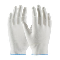 Glove Liners, Nylon, Partial Finger Tip, 200/bag, One Size  by Cleanroom World
