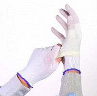 Glove Liners, Polyester, Partial Finger Tip, One Size, 200 pairs/bag  BRK-BGL2.8LB  by Cleanroom World