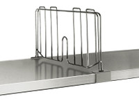 """Solid Shelf Dividers, Chrome, 21""""x8"""" by Cleanroom World"""