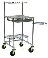 """Cleanroom Computer Carts, Stainless Steel, 30""""x30""""  by Cleanroom World"""