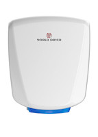 Hand Dryers; White Aluminum, HEPA Filtration, Automatic By Cleanroom World