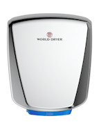 Hand Dryers; Polished Stainless Steel, HEPA Filtration By Cleanroom World