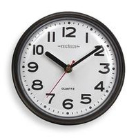 """Clock, Battery Operated, 7"""" Round By Cleanroom World"""