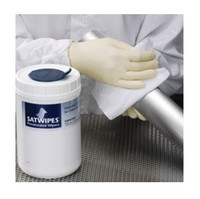 "Wipes, Pre-saturated, Non-woven Polyester/Cellulose, 500ml of 10%IPA, 6"" X 9"", ISO Class 6  CO-SAT-C1-1090  by Cleanroom World"