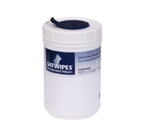 "Canisters, 6"" X 9"" Wipes, Reusable, Snap Close Lid, Pre-saturated Wipes  CO-SAT-CAN120  by Cleanroom World"