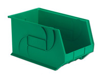 "Parts Bins, 18"" x11"" x 10""H, Green by Cleanroom World"