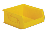 "Parts Bins, 10""x11""x5""H, Yellow by Cleanroom World"