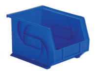 "Parts Bins, 10""x8""x7""H, Blue by Cleanroom World"