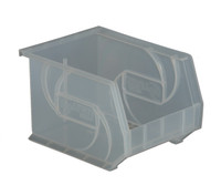 "Parts Bins, 10""x8""x7""H, Clear by Cleanroom World"