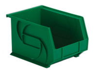 "Parts Bins, 10""x8""x7""H, Green by Cleanroom World"