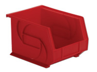 "Parts Bins, 10""x8""x7""H, Red by Cleanroom World"