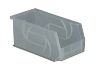 "Parts Bins, 10""x5""x5""H, Clear by Cleanroom World"