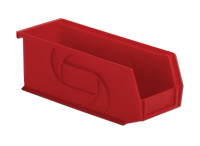 "Parts Bins, 10""x4""x4""H, Red by Cleanroom World"