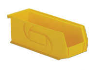 "Parts Bins, 10""x 4""x4""H, Yellow by Cleanroom World"