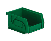 "Parts Bins, 5""x4""x3""H, Green by Cleanroom World"
