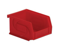 "Parts Bins, 5"" x 4"" x 3""H, Red by Cleanroom World"