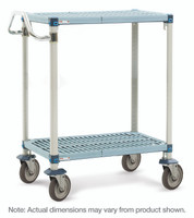 """Corrosion Resistant Carts, 2 Shelves, 24""""x36""""  by Cleanroom World"""