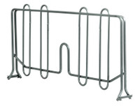 """Gowning Bench Dividers for Lower Shelves, 14""""x4"""", Stainless Steel by Cleanroom World"""