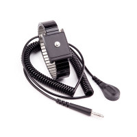 Cleanroom Metal Wrist Strap with 12' Coiled Cord by Cleanroom World