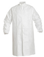 Tyvek Frocks, Snap Front, Elastic Wrists, IsoClean, Bulk Packaged, S-4XL by Cleanroom World