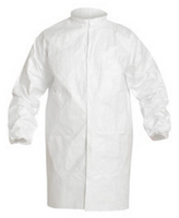 Tyvek Frocks, Snap Front , Elastic Wrists, Mandarin Collar, IsoClean, S-4XL  by Cleanroom World