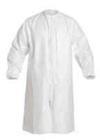 Sterile Tyvek Frocks, Zipper Front, DuPont Clean Processed, S-4XL by Cleanroom World
