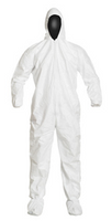 Tyvek Coveralls, Attached Hood/Boots, Cleanroom Processed, Individually Packaged, M-3XL by Cleanroom World