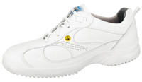 ESD Cleanroom Shoes, Foamed Midsole, White, Size 35 by Cleanroom World