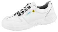 ESD Cleanroom Shoes, X-Light, Leather, Size 35, White by Cleanroom World