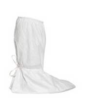 "Tyvek Boot Covers, IsoClean, PVC Sole, S-XL, 18""H, Ties at Ankles by Cleanroom World"