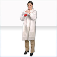 Disposable Lab Coats, SMS Material, Snap Close, 3 Pockets, M-4XL by Cleanroom World