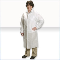Disposable Frocks, SMS Material, Snaps, Elastic Wrists, M-4XL by Cleanroom World