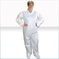 Disposable Cleanroom Coveralls, Comfortech, Microporous Material, Elastic Wrists/Ankles, L-XL by Cleanroom World