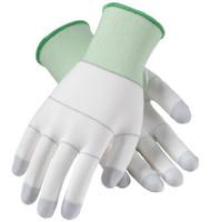 Nylon Gloves, Urethane Coated Palm & Fingertips, S-2XL, 12 Pairs Per Case  by Cleanroom World