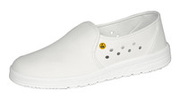 ESD Cleanroom Shoes, Microfiber with Perforations, Size 35, White by Cleanroom World