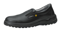 ESD Cleanroom Shoes, Slip Resistant, Unisex, Size 35, Black by Cleanroom World