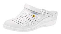 Narrow Toe ESD Cleanroom Shoes, Slip Resistant, Unisex, Size 36, White by Cleanroom World