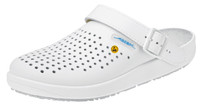 Cleanroom ESD  High Slip Resistant Shoes, Unisex, Size 36, White by Cleanroom World
