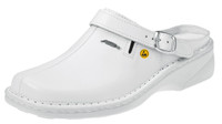 ESD Cleanroom Shoes, Slip On, Womens Wide Width, Size 36, White by Cleanroom World