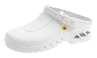ESD Cleanroom Shoes, Autoclavable, Unisex, Size 36, White by Cleanroom World