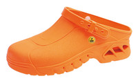 Cleanroom ESD Shoes, Autoclavable, Unisex, Size 36, Orange by Cleanroom World
