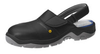 Black Cleanroom ESD Safety Shoes, Steel Toe, Washable, Unisex, Size 36 by Cleanroom World
