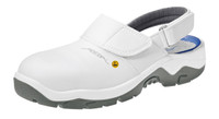 White Cleanroom ESD Safety Shoes, Lorica Washable Material, Steel Toe, Unisex, Size 39 by Cleanroom World