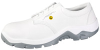 White Cleanroom ESD Safety Shoes, Washable, Steel Toe, Unisex, Size 36 by Cleanroom World